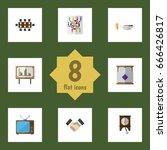 flat icon oneday set of... | Shutterstock .eps vector #666426817