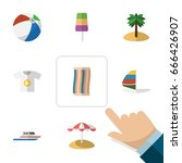 flat icon summer set of wiper ... | Shutterstock .eps vector #666426907