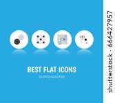 flat icon games set of... | Shutterstock .eps vector #666427957