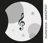 treble clef icon. | Shutterstock .eps vector #666429547