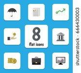 flat icon finance set of... | Shutterstock .eps vector #666430003