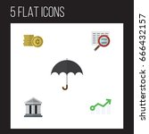 flat icon gain set of bank ... | Shutterstock .eps vector #666432157