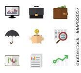 flat icon gain set of money box ... | Shutterstock .eps vector #666433057