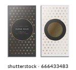 elegant luxury business card ...   Shutterstock .eps vector #666433483