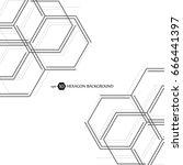 hexagonal geometric background. ... | Shutterstock .eps vector #666441397