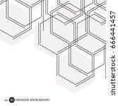 hexagonal geometric background. ... | Shutterstock .eps vector #666441457