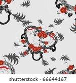 beautiful decorative background ...   Shutterstock . vector #66644167