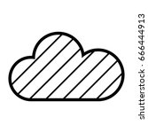 contour cloud weather to... | Shutterstock .eps vector #666444913