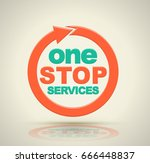 one stop services icon with... | Shutterstock .eps vector #666448837