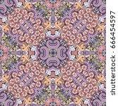 vector abstract nature hand... | Shutterstock .eps vector #666454597