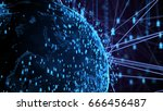 abstract network connection... | Shutterstock . vector #666456487