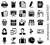set of simple icons on a theme... | Shutterstock .eps vector #666457057