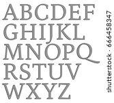 thin metal panel uppercase... | Shutterstock . vector #666458347
