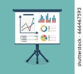 business presentation icon.... | Shutterstock .eps vector #666467593