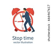stop time concept. business... | Shutterstock .eps vector #666467617