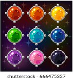 cartoon colorful circle... | Shutterstock .eps vector #666475327