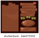 cartoon vector game menu set ... | Shutterstock .eps vector #666475333