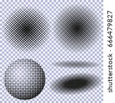 halftone circles  halftone dot... | Shutterstock .eps vector #666479827