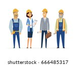 construction workers   colored... | Shutterstock .eps vector #666485317