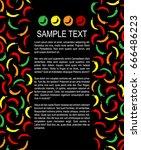 chili pepper frame background... | Shutterstock .eps vector #666486223