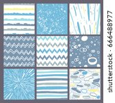 hand drawn pattern collection.... | Shutterstock .eps vector #666488977