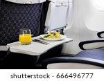 meals on board | Shutterstock . vector #666496777