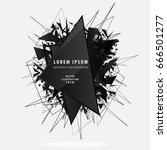 abstract black explosion... | Shutterstock .eps vector #666501277