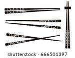chopsticks. set accessories for ...   Shutterstock .eps vector #666501397