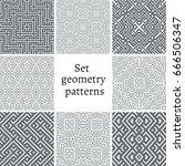 set of ornamental patterns for... | Shutterstock .eps vector #666506347