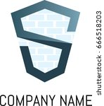 icon of s   bricks | Shutterstock .eps vector #666518203