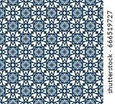 ornamental seamless pattern.... | Shutterstock .eps vector #666519727
