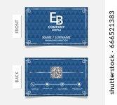 business card modern design... | Shutterstock .eps vector #666521383