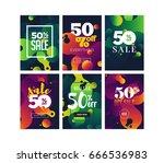 sale banner templates | Shutterstock .eps vector #666536983