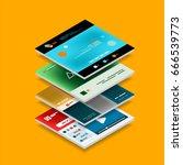 vector web site page design... | Shutterstock .eps vector #666539773