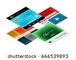 vector web site page design... | Shutterstock .eps vector #666539893