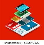 vector web site page design... | Shutterstock .eps vector #666540127