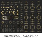 circle and square wicker... | Shutterstock . vector #666554377