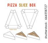 stock vector box for pizza... | Shutterstock .eps vector #666558727