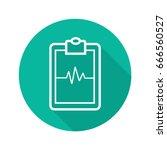 clipboard cardiogram flat... | Shutterstock .eps vector #666560527
