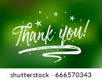 thank you. bokeh green lights... | Shutterstock .eps vector #666570343