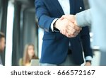 business people shaking hands ... | Shutterstock . vector #666572167