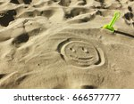 sand  beach. game in the sand.... | Shutterstock . vector #666577777