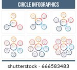 circle infographic templates... | Shutterstock .eps vector #666583483