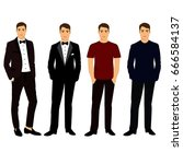 collection. men's clothing....   Shutterstock .eps vector #666584137