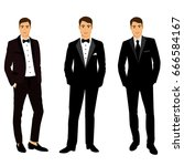 collection. clothing. the groom.... | Shutterstock .eps vector #666584167