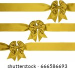 three gold bow with diagonal... | Shutterstock . vector #666586693