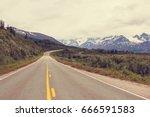 scenic highway in alaska  usa | Shutterstock . vector #666591583