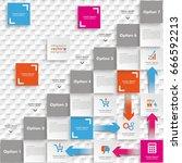 template rectangles design on... | Shutterstock .eps vector #666592213