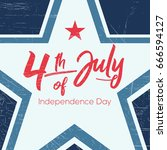fourth of july  united stated... | Shutterstock .eps vector #666594127
