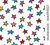 cosmos astronomy simple... | Shutterstock .eps vector #666595027